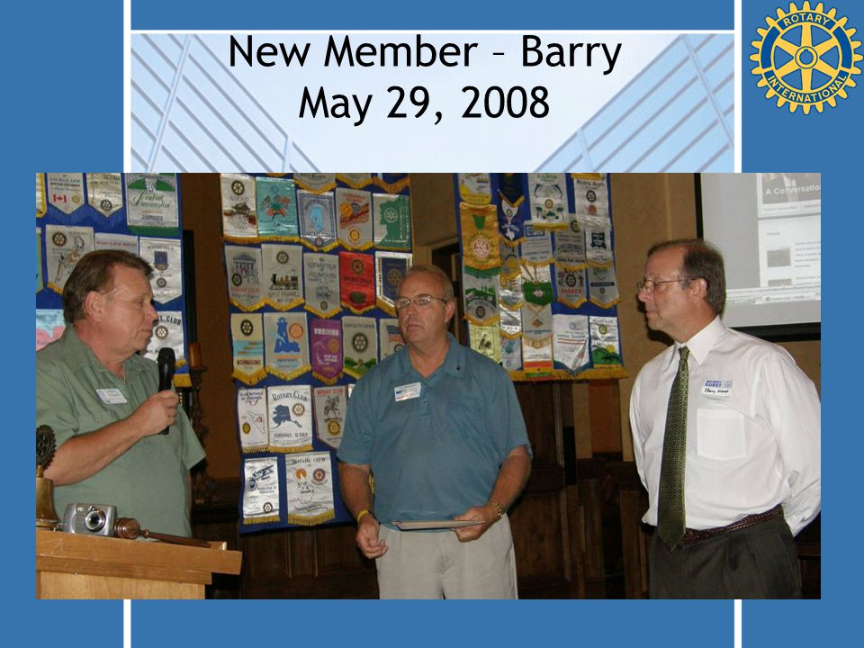 New Member – Barry May 29, 2008