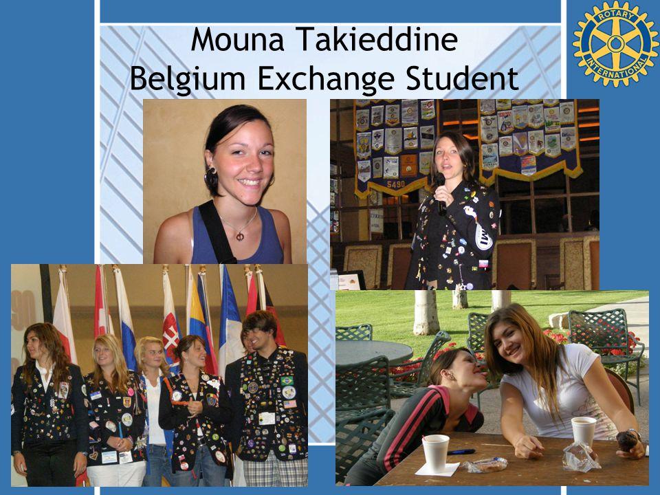 Mouna Takieddine Belgium Exchange Student