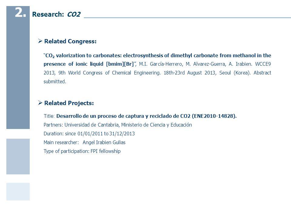 Title: Desarrollo de un proceso de captura y reciclado de CO2 (ENE2010-14828).