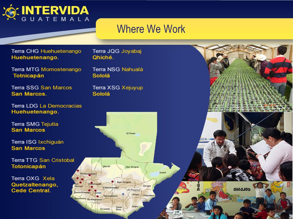 Education Sector Education programs implemented by Intervida not only seek to improve the quality of education, but also to be universal, and improve participation and valuing of education programming in the community.