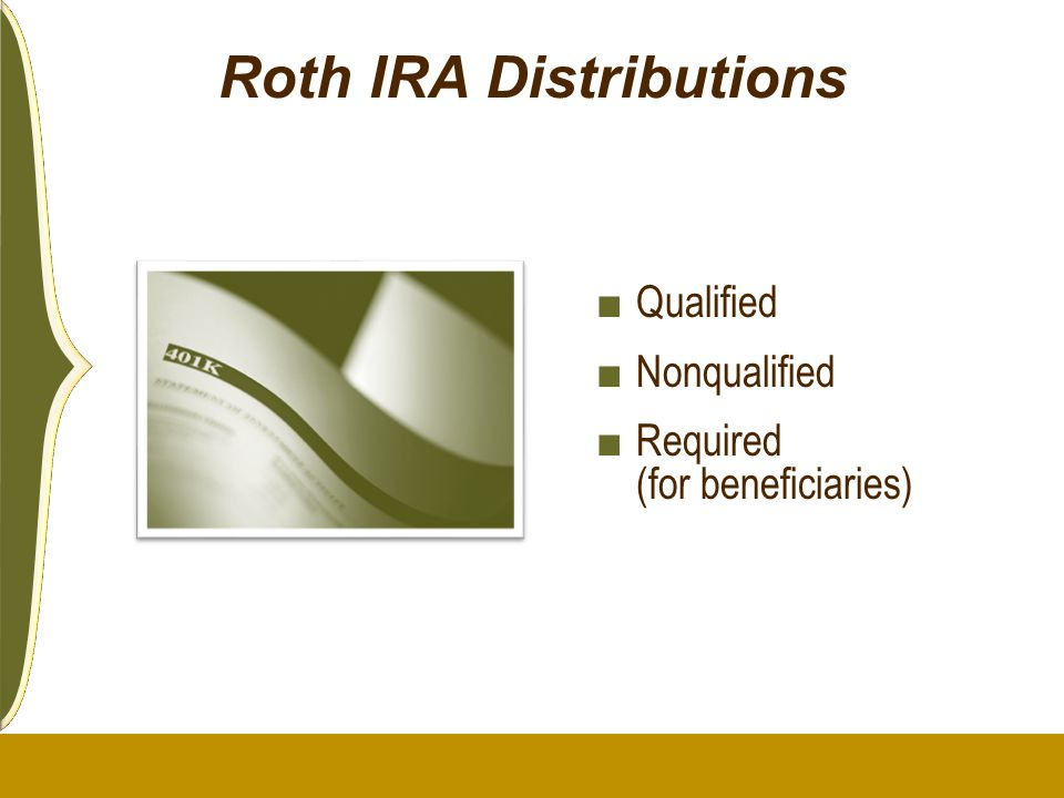 Roth IRA Distributions ■ Qualified ■ Nonqualified ■ Required (for beneficiaries)