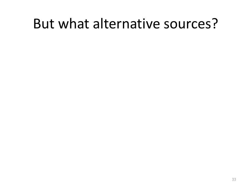 But what alternative sources? 33