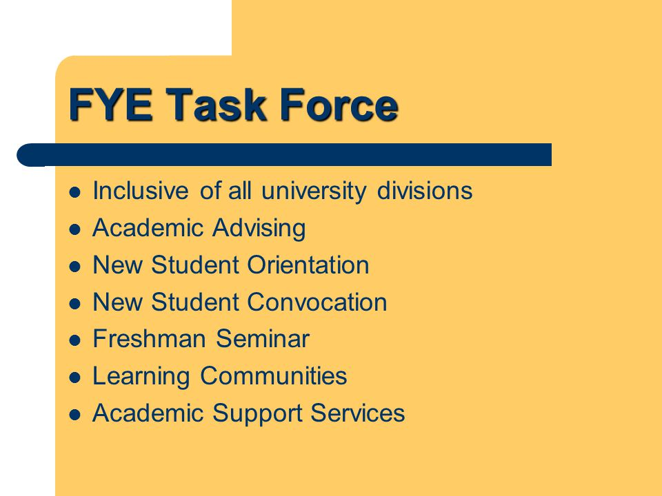 Hallmarks of Excellence Philosophy and unified approach Student engagement in and out of school Diversity Subpopulations Organizational structures Qualitative/quantitative assessment Policy Center on the First Year of College