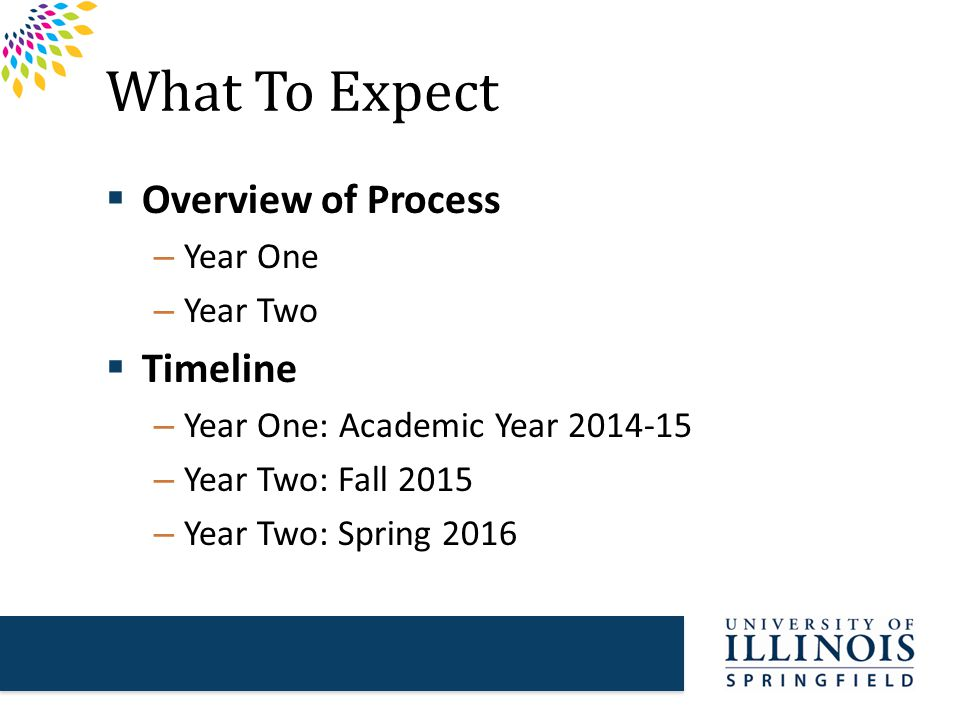 Year One Overview 1.Program or unit identifies self-study committee, lead writer, and departmental or unit coordinator.