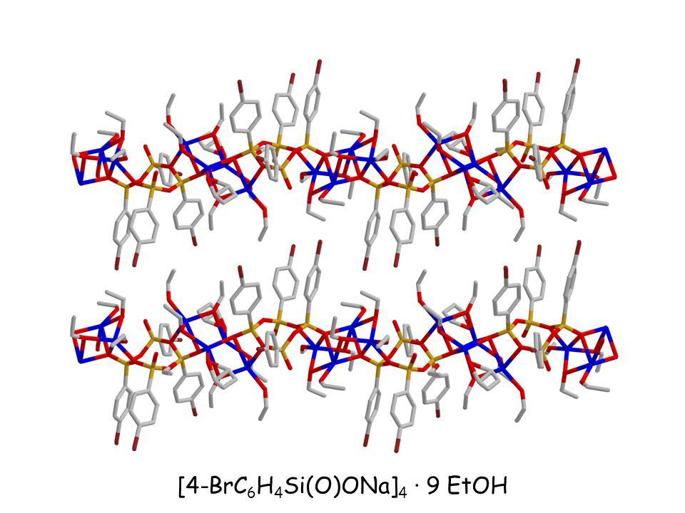 [4-BrC 6 H 4 Si(O)ONa] 4 · 9 EtOH