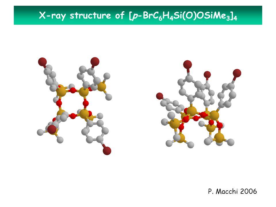 P. Macchi 2006 X-ray structure of [p-BrC 6 H 4 Si(O)OSiMe 3 ] 4