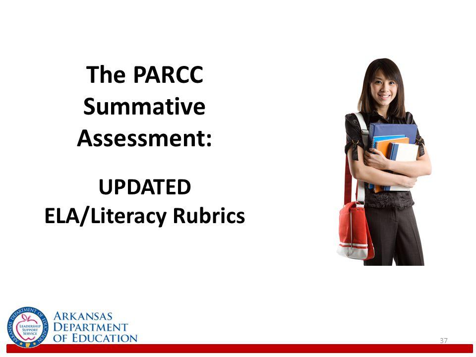 37 The PARCC Summative Assessment: UPDATED ELA/Literacy Rubrics