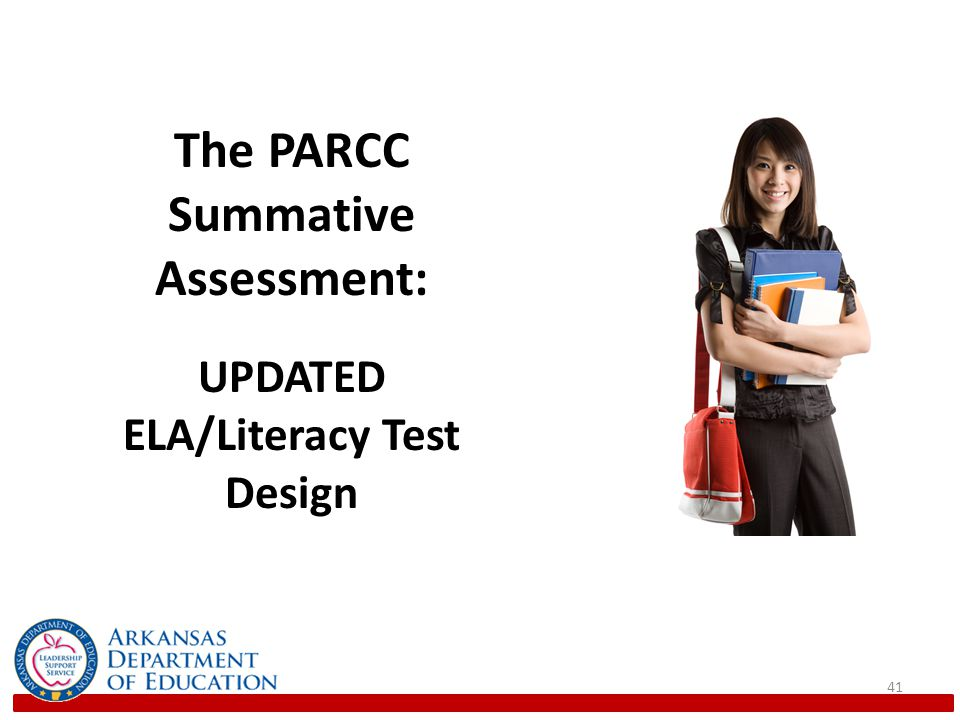 41 The PARCC Summative Assessment: UPDATED ELA/Literacy Test Design