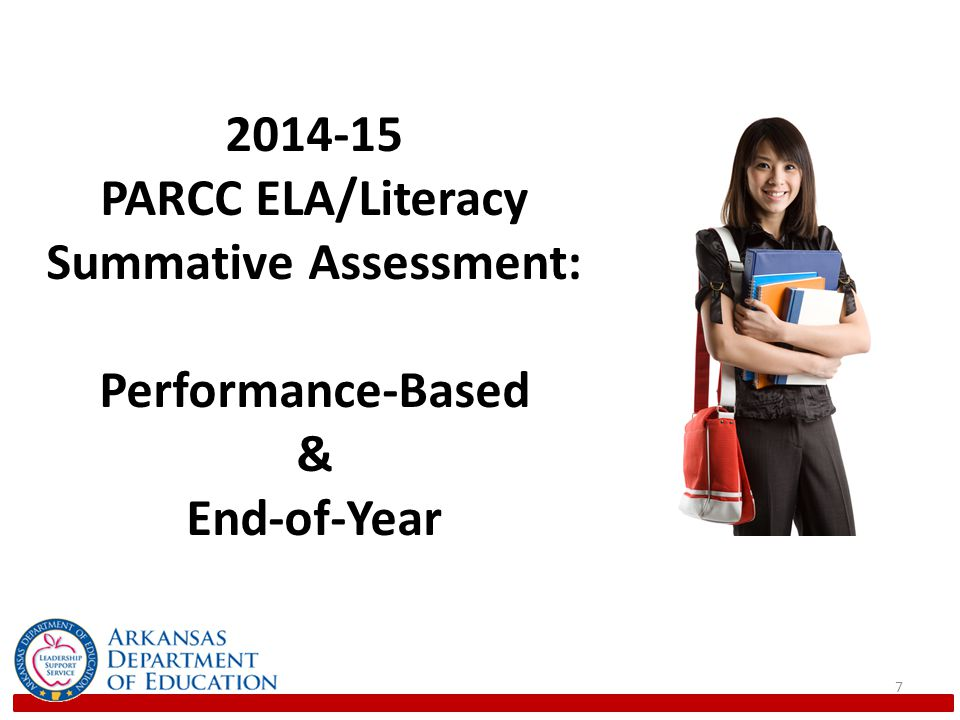 7 2014-15 PARCC ELA/Literacy Summative Assessment: Performance-Based & End-of-Year