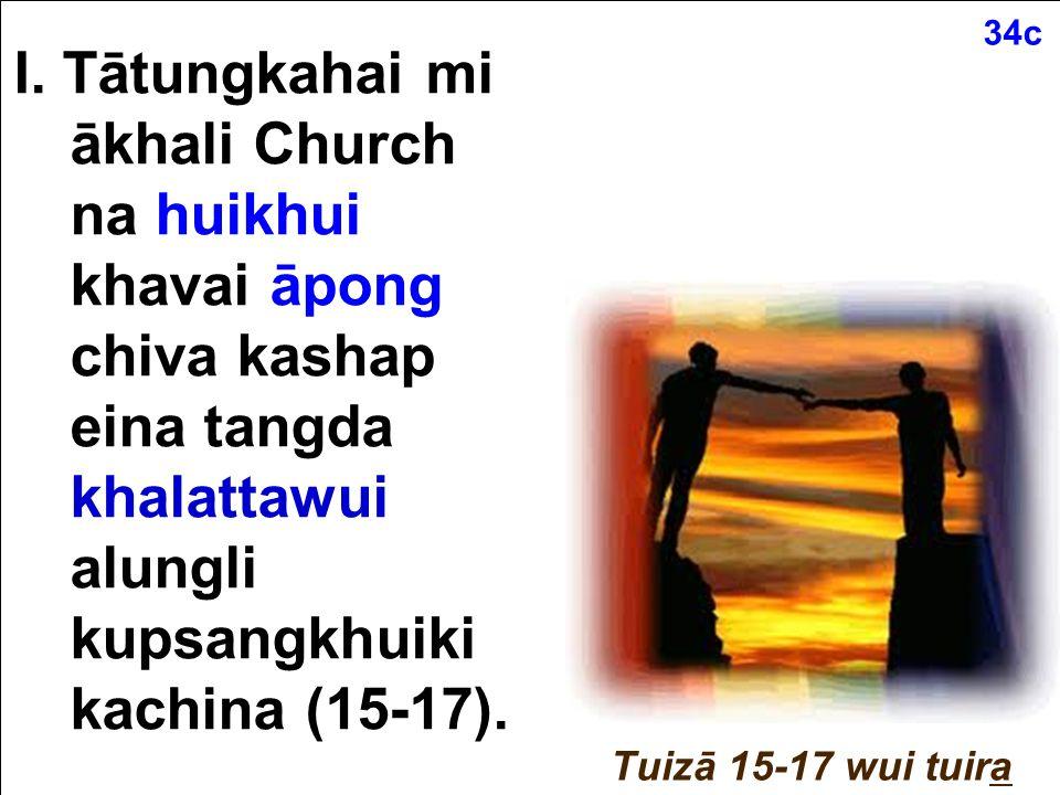Matthew 18:15-20 (Tangkhul) Nachinana nawui tungli khayon sahaiakha, ali valaga nanimang ngasopamlaga awui khayon chi hangmilu, ana mayaakha nana nachinali yuikhuihaira.