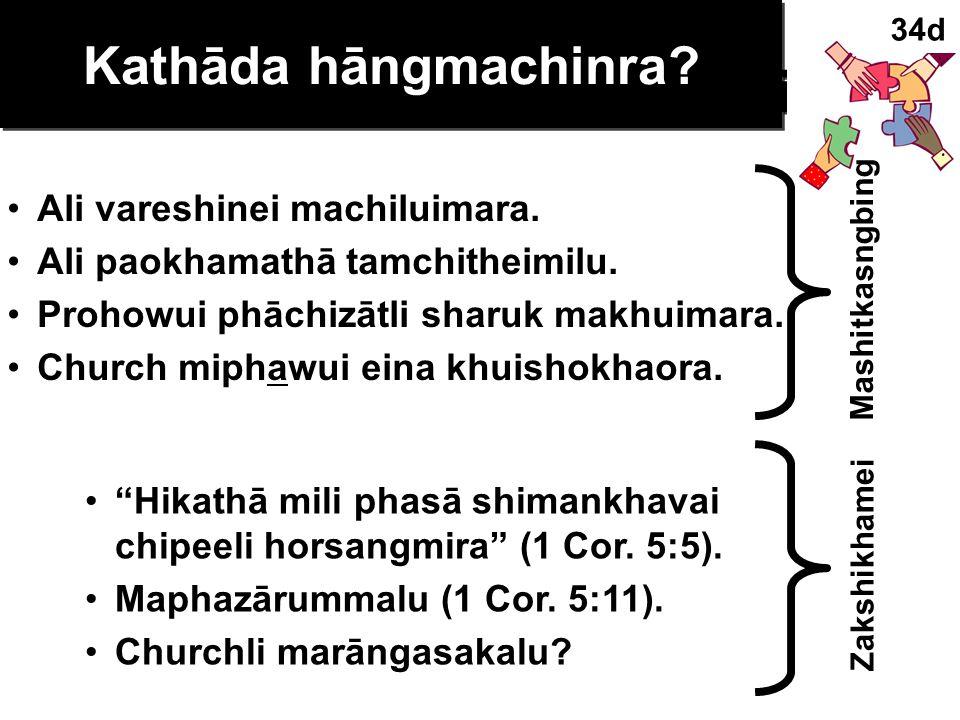 Sins Worthy of Discipline Kathāda masāmara AYARLI KHUISHOKHAOLU !