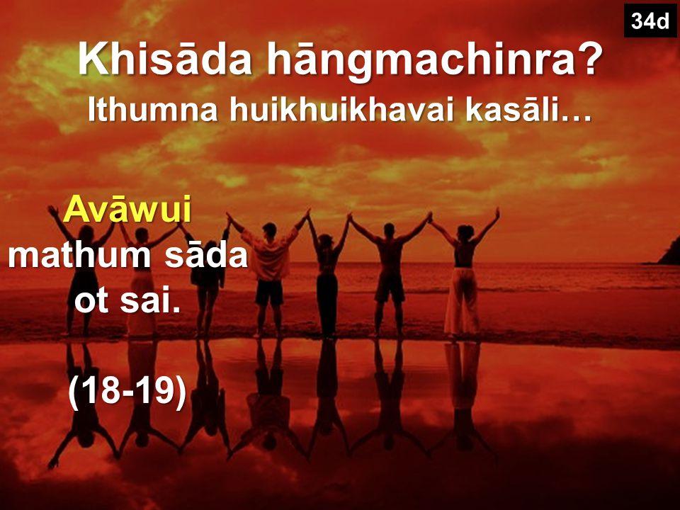 Tuizā 18-20 wui tuira II. Church hina Varewui sārān- pangshap wui amathunna! 34d