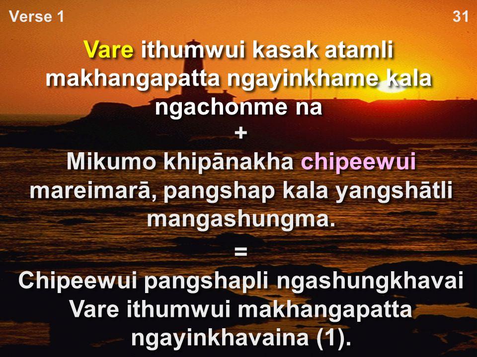 Tuipam pheikakhai khumkakhuiwui arā-pheikār kathum (angayung) A.Tui kasakbing kala chanzambing paikhamei tui eina ngacheikhuili.