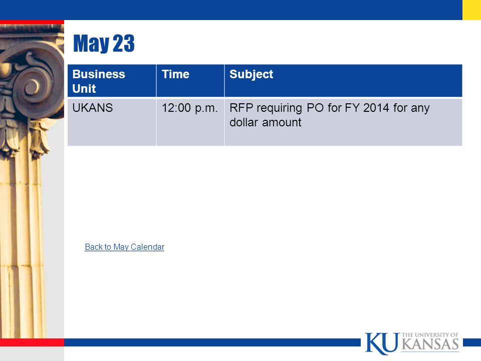 July 1 Business Unit TimeSubject Matter UKANS & KURES AfternoonFSKU access tentatively scheduled to return Back to July Calendar