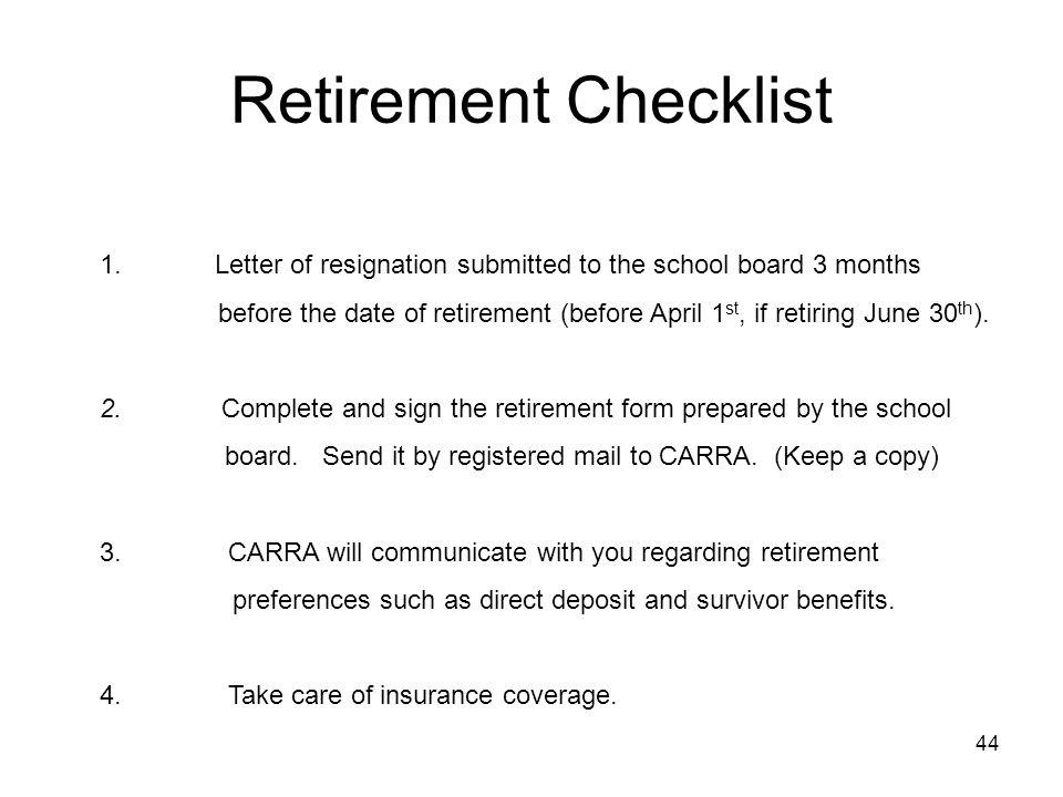 Retirement Checklist 1.