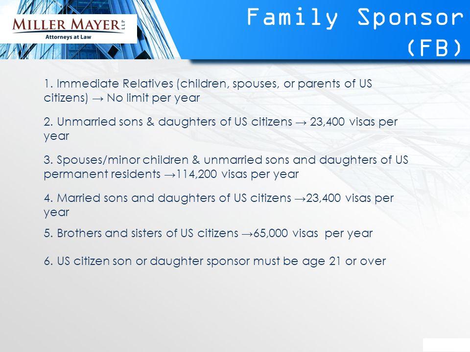Family Sponsor (FB) 1.
