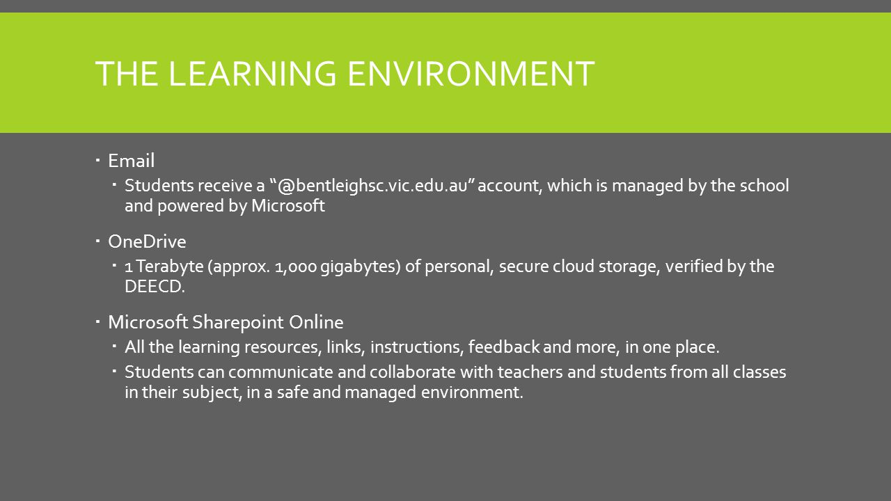 COMPARISON OF PROGRAM Surface Pro-gram Students  Full access to digital curriculum  School email, OneDrive and Microsoft Account  24/7 access to personal Surface Pro 3 tablet  In-class access to digital textbooks  Access to download apps from Microsoft Store Non Surface Pro-gram Students  Full access to digital curriculum  School email, OneDrive and Microsoft Account  Classroom access to college netbooks In summary, students will get the same curriculum regardless of program.