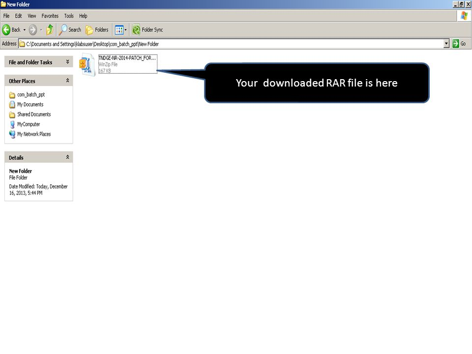 Your downloaded RAR file is here
