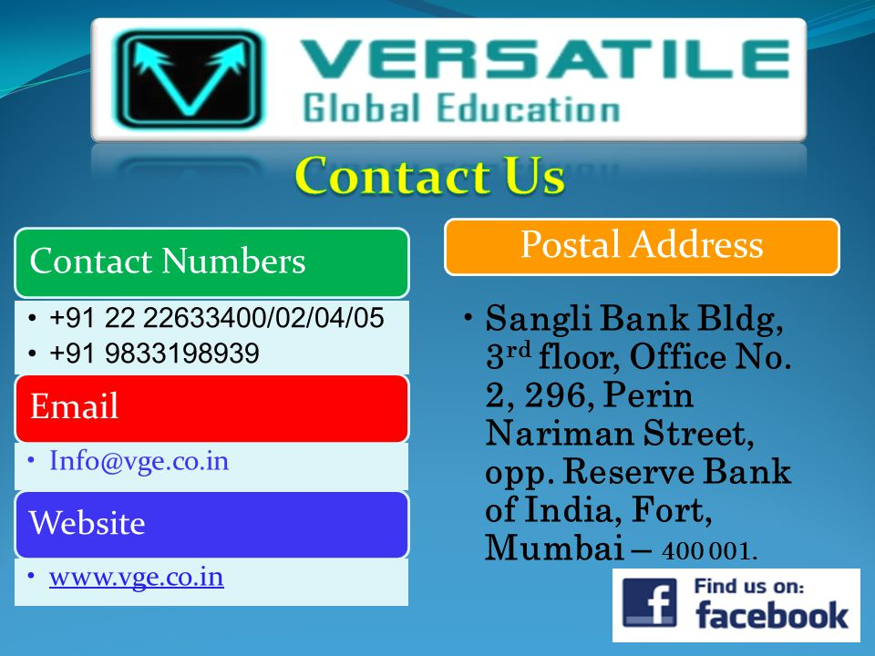 Postal Address Sangli Bank Bldg, 3 rd floor, Office No.