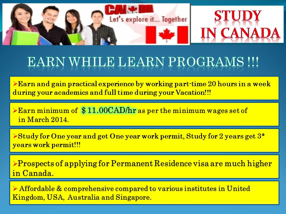  Earn and gain practical experience by working part-time 20 hours in a week during your academics and full time during your Vacation!!.