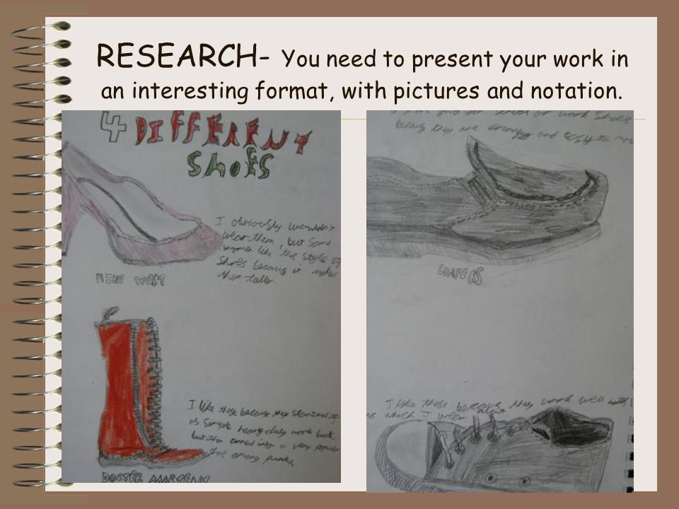 EXPERIMENT & DEVELOP- You need to produce 4 design ideas, here are some examples on the following pages.