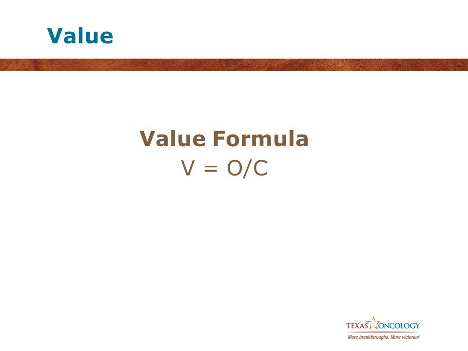 Value Value Formula V = O/C