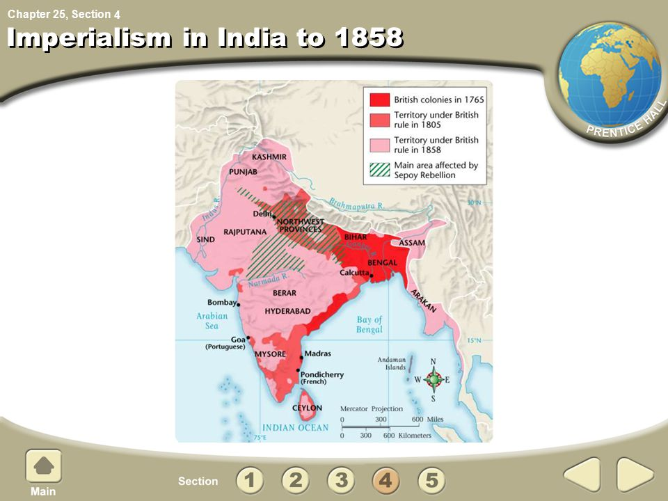 Chapter 25, Section Imperialism in India to 1858 4
