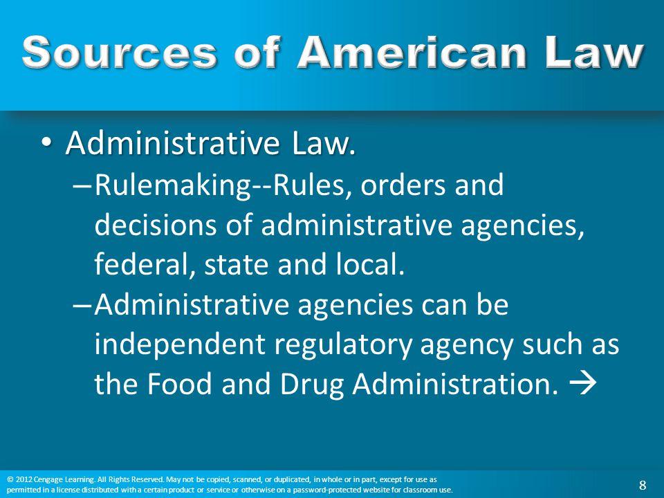 Administrative Law (cont'd).Administrative Law (cont'd).