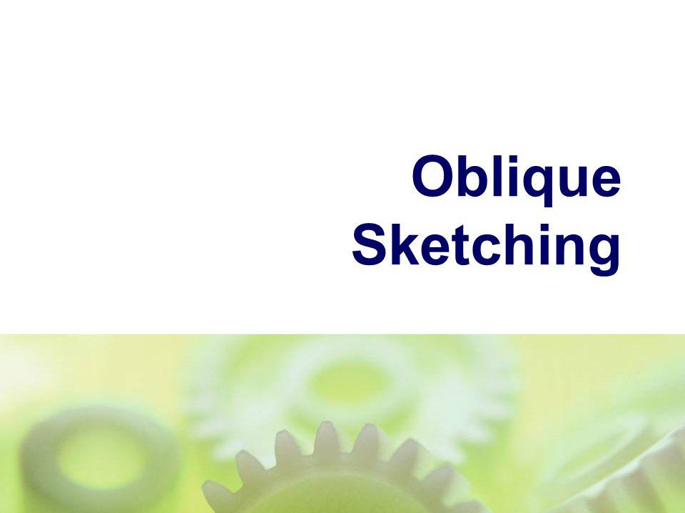 Oblique Sketching