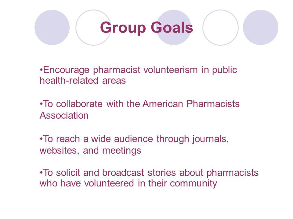 Pharmacy Volunteerism to Address Public Health Problems Need organized effort to recruit pharmacist volunteers Volunteerism is a rewarding outlet for pharmacists Volunteer-pharmacist pool is expected to increase as baby-boomer pharmacists retire