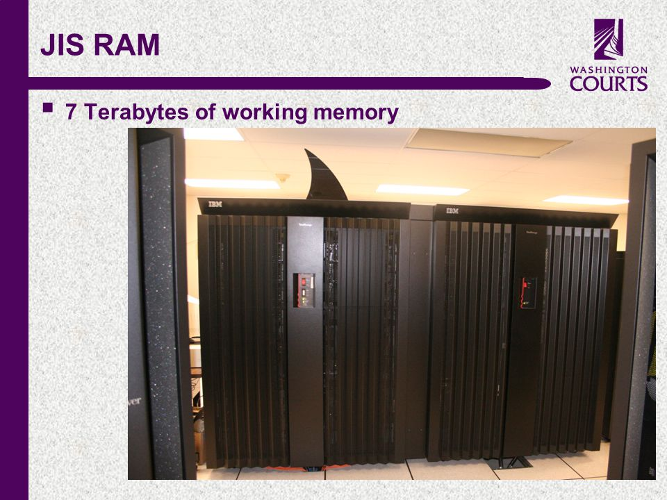 c JIS RAM  7 Terabytes of working memory
