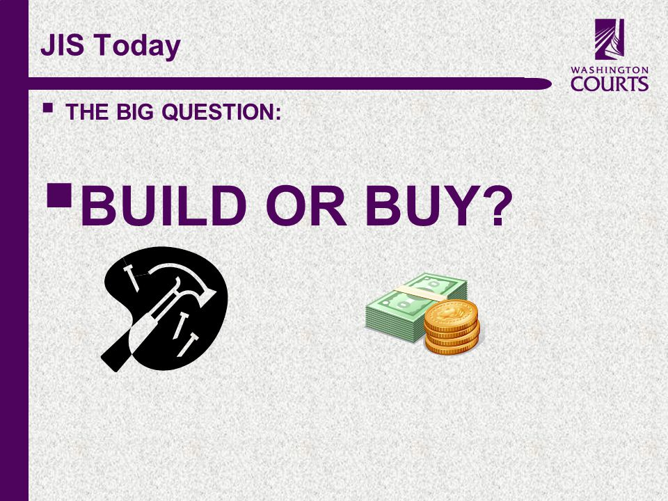 c JIS Today  THE BIG QUESTION:  BUILD OR BUY?