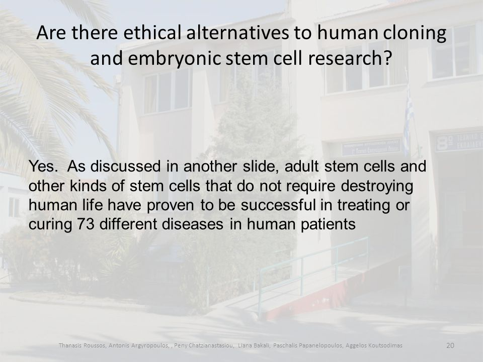 Are there ethical alternatives to human cloning and embryonic stem cell research.
