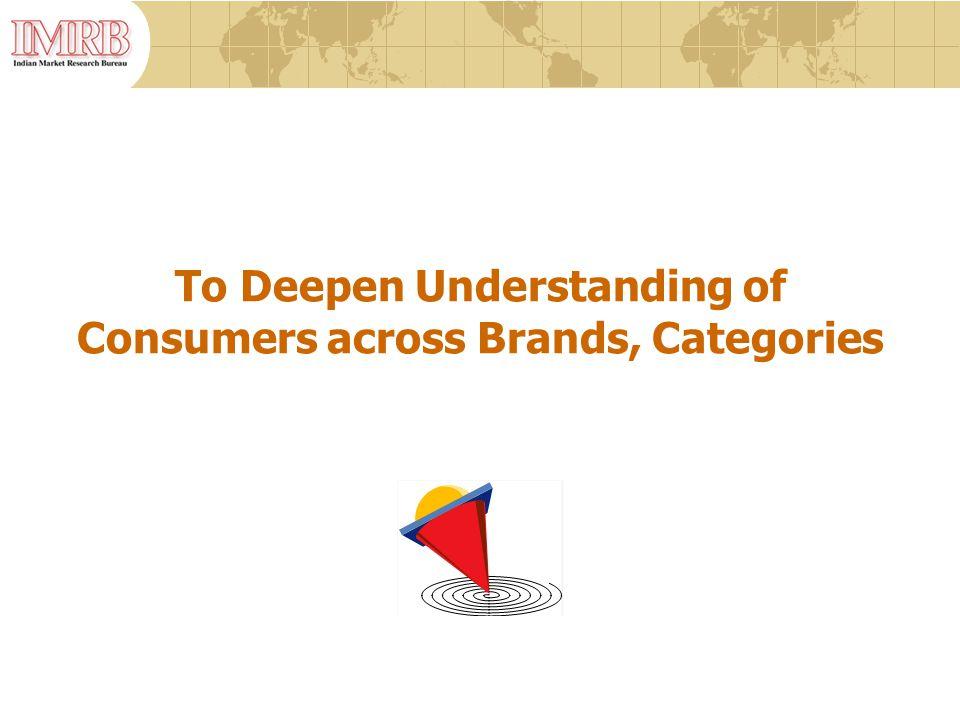 To Deepen Understanding of Consumers across Brands, Categories