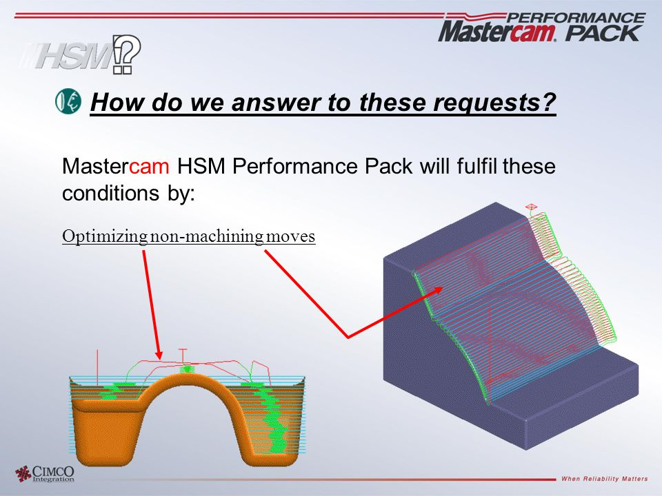 Optimizing non-machining moves How do we answer to these requests.