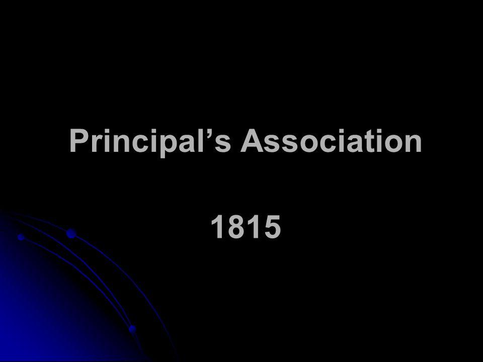 Principal's Association 1815