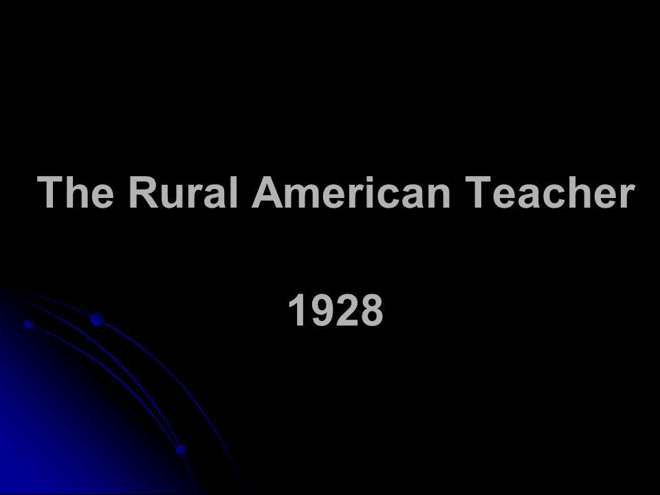 The Rural American Teacher 1928
