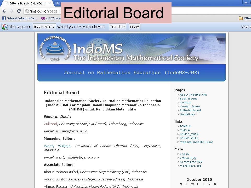 Editorial Board