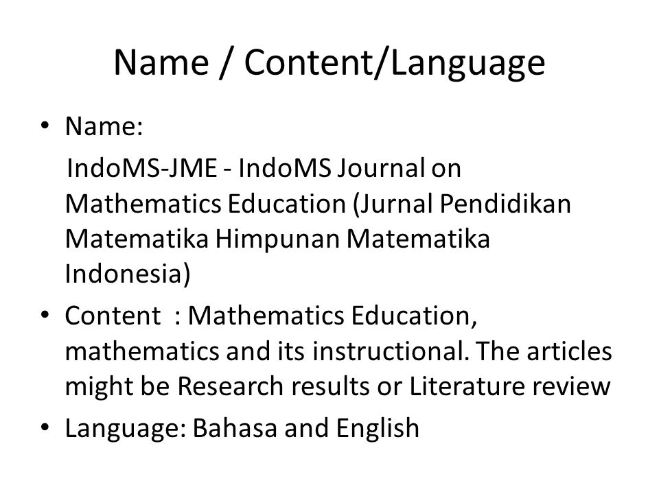 Two examples of Famous of International Journal on Math.