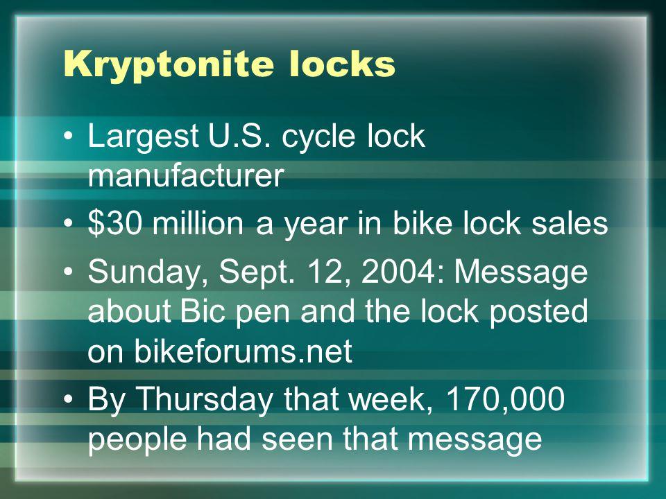 Kryptonite locks Largest U.S.