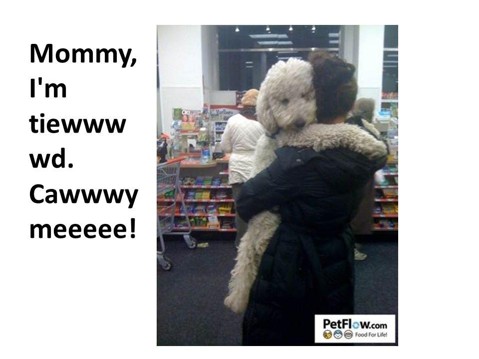 Mommy, I m tiewww wd. Cawwwy meeeee!