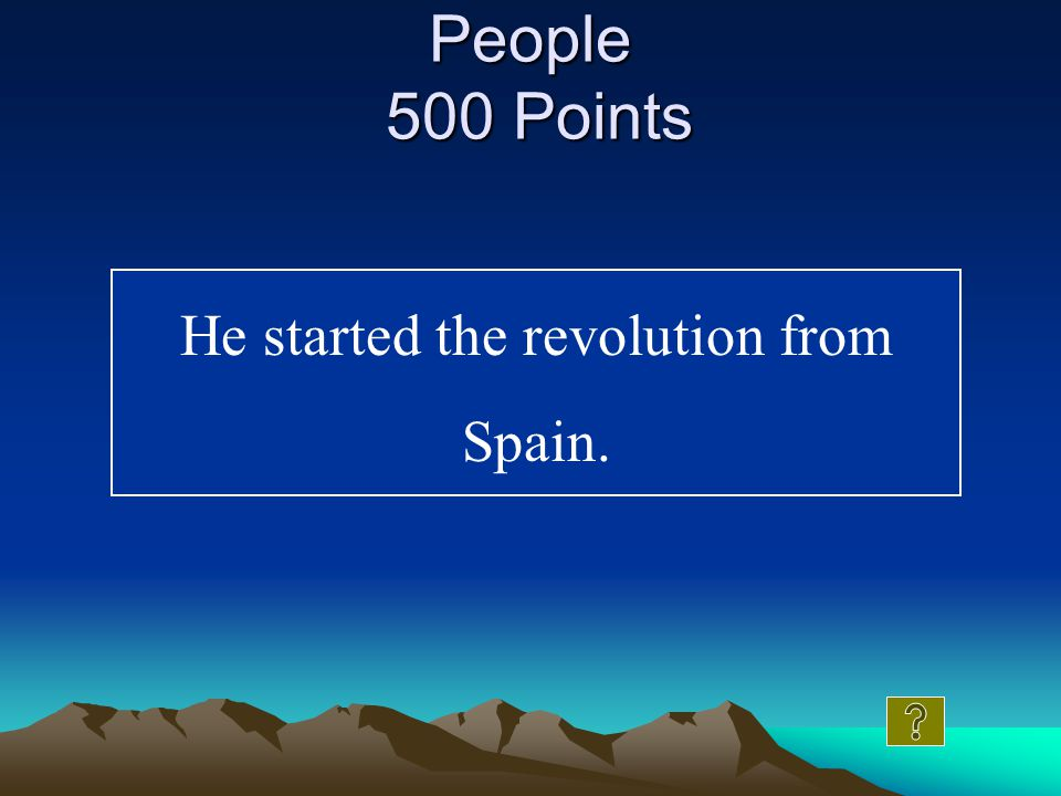 What is an empressario People 400 Points