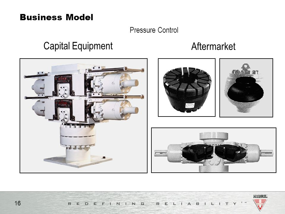 16 Business Model Capital Equipment Aftermarket Pressure Control