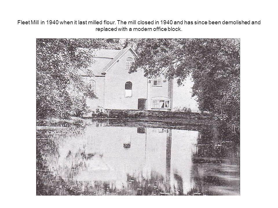 Fleet Mill in 1940 when it last milled flour.