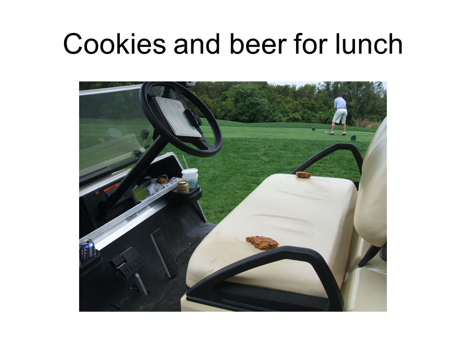 Cookies and beer for lunch