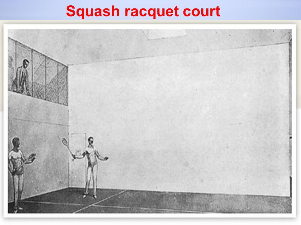 Squash racquet court
