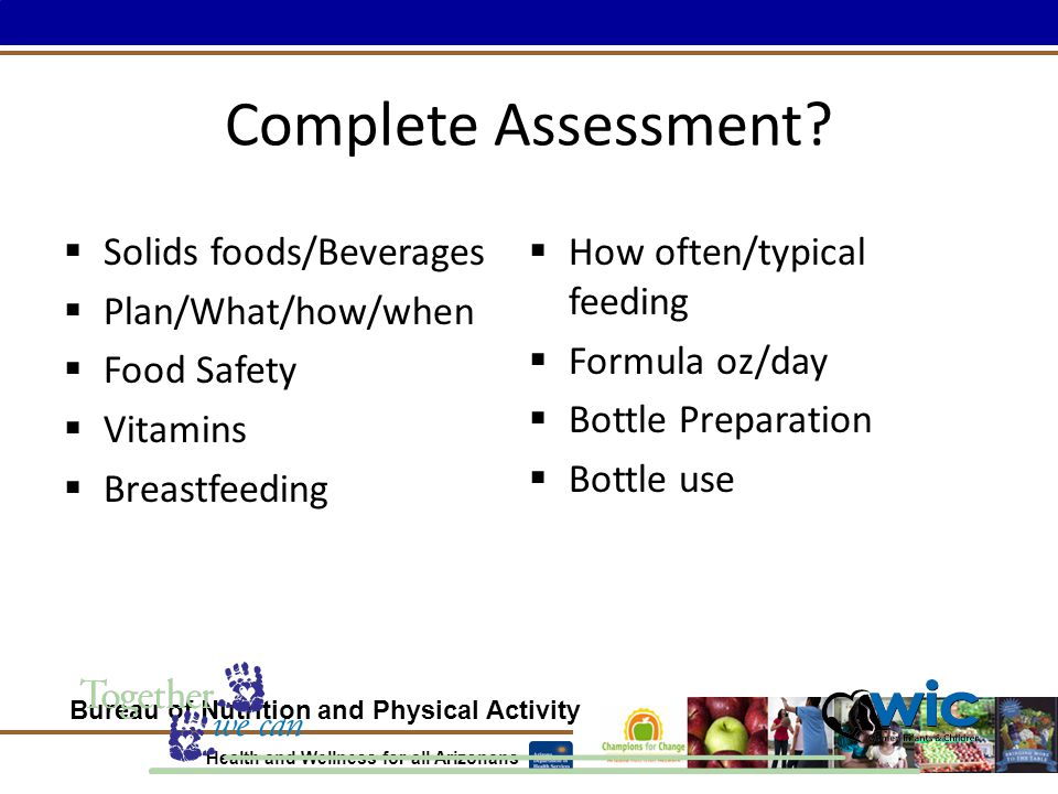 Bureau of Nutrition and Physical Activity Health and Wellness for all Arizonans Complete Assessment.