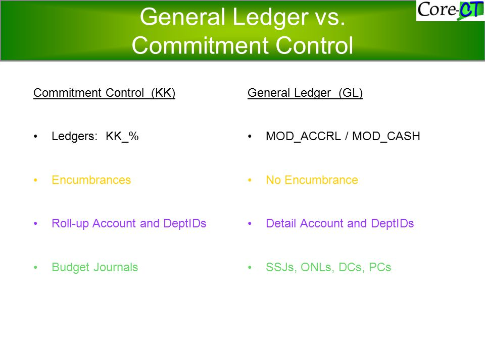 General Ledger vs.