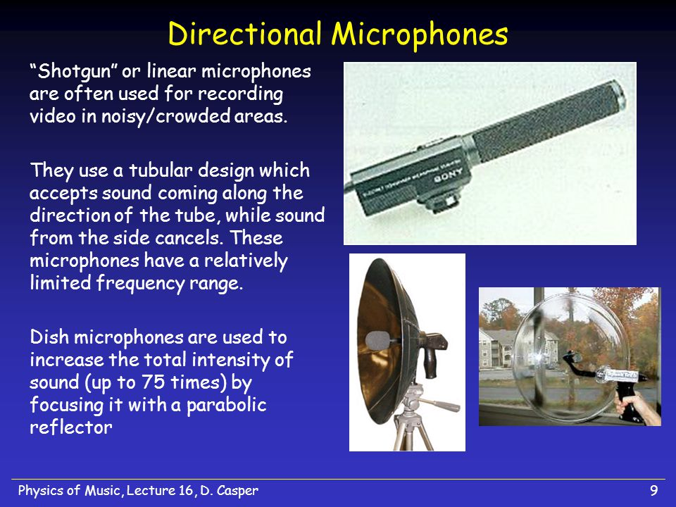 Physics of Music, Lecture 16, D.