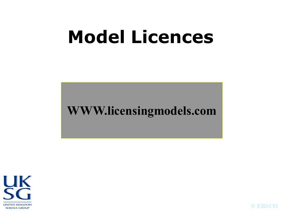 © EBSCO Model Licences WWW.licensingmodels.com